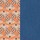 Patterned leather, Peacock / Denim Blue image number 1