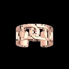 Manchette Maillon 25 mm, Finition dorée rose image number 1