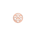 Poisson token Round 16 mm, Rose gold finish image number 1