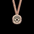 Collier Poisson, Finition dorée rose, Noir / Blanc image number 1