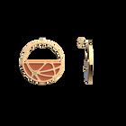 Boucles d'oreilles Créoles Fleurs du Nil, Finition dorée, Blush / Bronze image number 3