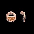 Boucles d'oreilles Petites Créoles Fleurs du Nil, Finition dorée rose, Lapis / Papyrus image number 4