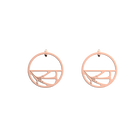 Fleurs du Nil Hoop 30 mm Earrings, Rose gold finish image number 1
