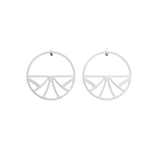 Papyrus Hoop 43 mm Earrings, Silver finish image number 1
