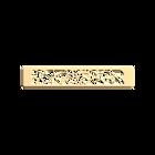 Decorative plaque Nénuphar 25 mm, Gold finish image number 1