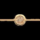Pulsera de cadena Pétales redondo 25 mm, Acabado dorado image number 1