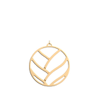 Pendentif Tresse Rond 45 mm, Finition dorée image number 1
