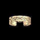 Manchette Fleurs de Mariage 14 mm, Finition dorée image number 1