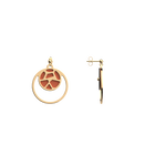 Girafe Double Round 16mm Earrings, Gold finish, Blush / Bronze image number 4