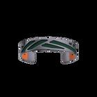 Bracelet Ruban, Finition ruthénium satinée, Vert forêt / Noisette image number 2