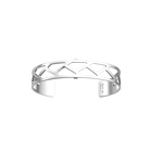 Bracelet Tressage 14 mm, Finition argentée satinée image number 1