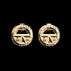 Boucles d'oreilles Ibiza, Créoles 30 mm, Finition dorée image number 1