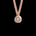Collier Fleurs du Nil, Finition dorée rose, Rose Clair / Gris Clair image number 2