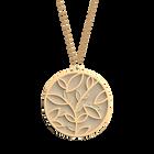 Collier Arbre de Vie, Finition dorée, Crème / Paillettes dorées image number 1