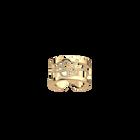Pétales ring 12 mm, Gold finish image number 1