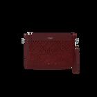 Burgundy La Pochette Dentelle Bag, Ruban pattern - Metallic Red lining image number 1