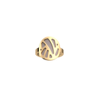 Perroquet Ring, Gold finish, Crimson / Shell image number 2