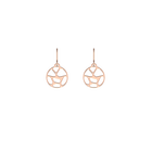 Boucles d'oreilles Girafe, Dormeuses 16 mm, Finition dorée rose image number 1