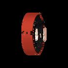 Bracelet Cuir Paillettes Noires / Rouge, boucle dorée rose image number 1