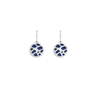 Fougères Sleeper Earrings, Silver finish, Sun / Navy Blue image number 2