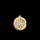 Pendentif Courbe Rond 45 mm, Finition dorée image number 1