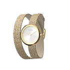 Cream / Gold Glitter Wraparound Watch, Gold finishes image number 2