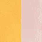 Leather insert, Light Patent Pink / Lemon Yellow image number 1