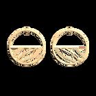 Boucles d'Oreilles Vibrations, Créoles 43 mm, Finition Dorée image number 1