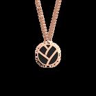 Collier Tresse, Finition dorée rose, Noir / Blanc image number 1