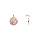 Boucles d'oreilles Les Audacieuses Monstera, Finition dorée rose, Carmin / Coquillage image number 4