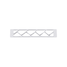 Decorative plaque Tresse 25 mm, Silver finish image number 1