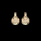Boucles d'oreilles Pétales, Dormeuses 16 mm, Finition dorée image number 1
