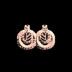 Boucles d'oreilles Dormeuses Double Rond Lotus, Finition dorée rose, Nuit Étoilée / Brun Écorce image number 2