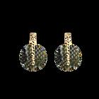 Boucles d'oreilles Martelle, Finition dorée, Reptile Graphique / Chocolat image number 2