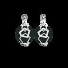 Boucles d'oreilles XL Gigi, Finition argentée, Cuivré / Vert foncé image number 3