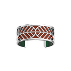 Faucon Bracelet, Silver finish, Malachite / Garnet image number 2