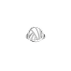 Perroquet ring Round 16 mm, Silver finish image number 1