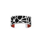 Fleurs du Nil Bracelet, Silver finish, Black Glitter / Red image number 1