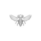 Abeille Pins, Silver finish image number 1