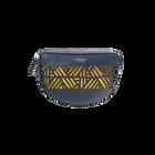 Navy Blue Demi-Lune Dentelle Bag, Ruban pattern - Yellow lining image number 1