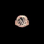 Bague Perroquet, Finition dorée rose, Noir Pailleté / Rouge Soft image number 2
