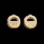 Boucles d'oreilles Perroquet, Créoles 30 mm, Finition dorée image number 1