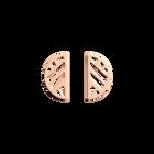 Boucles d'oreilles Ruban, Demi-lunes 30 mm, Finition dorée rose image number 1