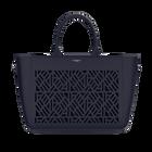 Bag Le Grand Sac, Navy Blue, Ruban pattern image number 1