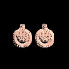 Boucles d'oreilles Ibiza, Double Rond 16 mm, Finition dorée rose image number 1