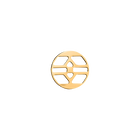 Inca token Round 16 mm, Gold finish image number 1
