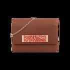 Plaited Caramel Le Maxi Bijou Bag, Rose Gold Perroquet decorative plaque image number 1