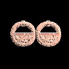 Fleurs du Nil Hoop 43 mm Earrings, Rose gold finish image number 1
