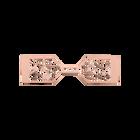 Bijou de sac Arabesque 40 mm, Finition dorée rose image number 1