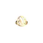 Perroquet ring Round 16 mm, Gold finish image number 1